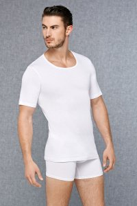 Doreanse Plus Size Solid Short Sleeved T Shirt White 2570P