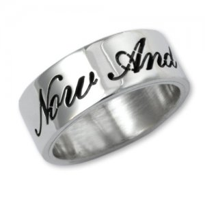 Personalized Men's Jewelry Sterling Silver Cursive Script Purity Comfort Fit Ring 101-14-017-02