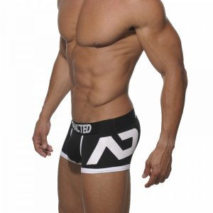Addicted Logo PackUp Boxer Brief Underwear Black/White AD156