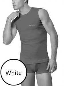 Nukleus Rebirth Sea Andaman Contempo Muscle Top T Shirt White NST9090