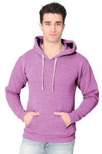 Royal Apparel Unisex Eco Triblend Fleece Pullover Hoody Long Sleeved Sweater Eco Tri Purple 37055