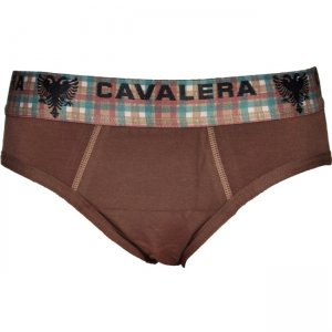 Cavalera Cotton/Elastane Brief Underwear Brown 440-02
