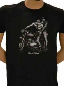 Tom Of Finland Motorcycle Short Sleeved T Shirt Black