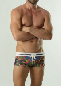 Geronimo Square Cut Trunk Swimwear 1607B2-1