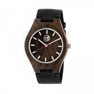 Earth Wood Aztec Leather-Band Watch - Olive ETHEW4104