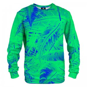 Mr. Gugu & Miss Go Tropical Green Unisex Sweater S-PC1277