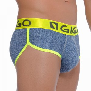 Gigo JASP BLUE Brief Underwear G01090-BLUE