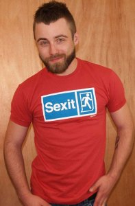 Ajaxx63 Athletic Fit Sexit Short Sleeved T Shirt Red AS75