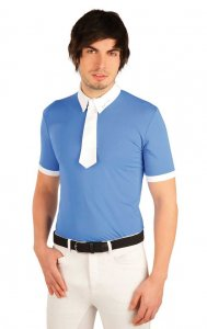 Litex Equestrian Riding Polo Racing Short Sleeved Shirt Blue...