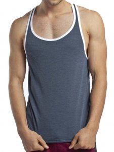 Jack Adams Relaxed Soft Tank Top T Shirt Charcoal 403-106