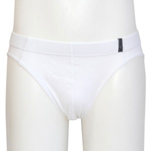 Minerva Micro Cotton Slip Inside Rubber Brief Underwear White 21040