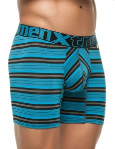 Xtremen Stripe Classic Boxer Brief Underwear Blue 51387