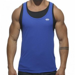 ES Collection SuperPosed Low Rider Tank Top T Shirt Royal Blue TS123