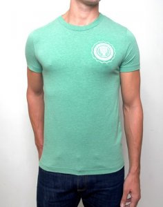 Supawear Sports Club Short Sleeved T Shirt Green Marle T11SCGR