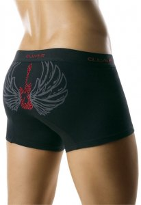 Clever Flying Guitar Boxer Brief Black Underwear 0176 USA1