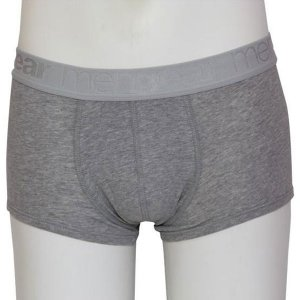 Minerva [2 Pack] Basic Trunk Meng Boxer Brief Underwear Dark Grey Melange 20519