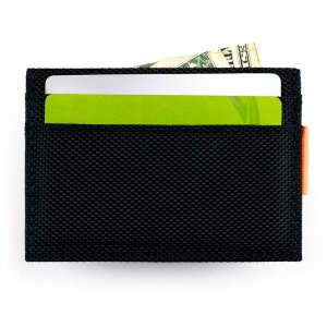 Ulterior Motive Nylon Card Case Black/Orange
