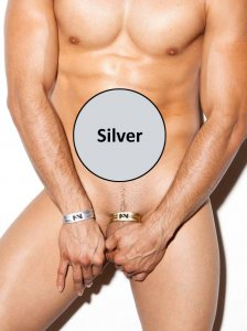 N2N Bodywear Metallic C-Strap Accessory Silver CS2