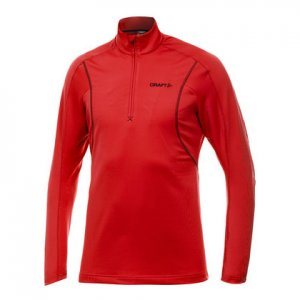 Craft Performance Lightweight Stretch Pullover Long Sleeved Sweater Bright Red 1900927