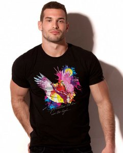 Alexander Cobb Icarus Rainbow Short Sleeved T Shirt Black 5C...