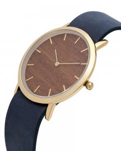 Analog Watch Classic Makore Wood Dial & Navy Strap Watch GN-...
