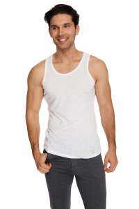 4-rth The Perfect Tank Top T Shirt White Slub
