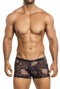 Vuthy See Through Mesh Erotic wear Square Cut Boxer Brief Underwear Black 439