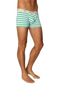4-rth Zen Stripe Boxer Brief Underwear Nautical Green