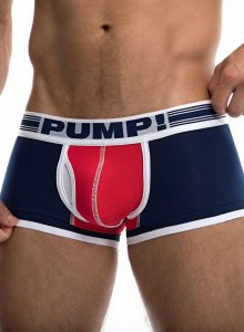 Pump! Touchdown Academy Boxer Brief Underwear Royal Blue/Red 11077