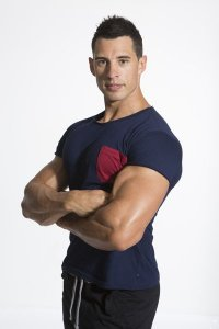 Bloke Undees Muscle Short Sleeved T Shirt Navy BTS-N