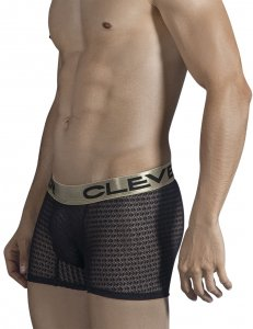 Clever Romeo Boxer Brief Underwear Black 2309