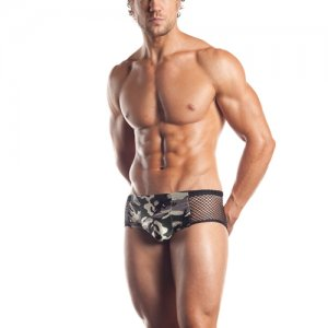 Excite Fishnet Brief Underwear Camouflage/Black EE19