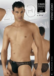 Eros Veneziani Sheer Criss Cross Brief Underwear 6907