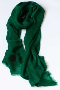 L'Homme Invisible Regal Pachemina Ultrafine Scarf Emerald
