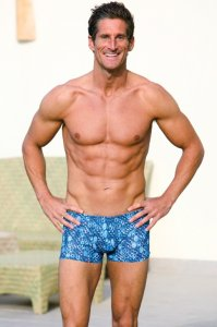 Kiniki Capri Tan Through Hipster Shorts Square Cut Trunk Swimwear CPNR