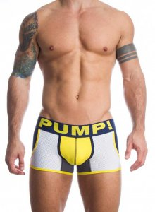 Pump! Frat Boy Jogger Boxer Brief Underwear Navy/Grey/Yellow 11028