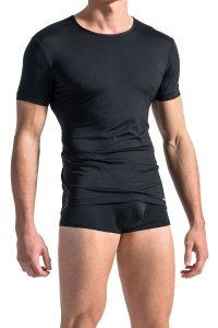 MANstore M103 Casual Short Sleeved T Shirt Black 2-07339/8000