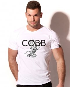 Alexander Cobb Gecko Short Sleeved T Shirt White 5C-12