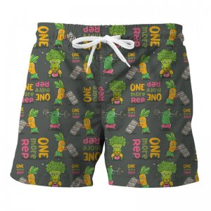 Mr. Gugu & Miss Go Vegetables Power Trunks Swimwear ST841