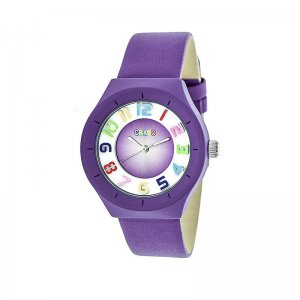 Crayo Atomic Leather-Band Watch - Purple CRACR3507