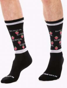 Barcode Berlin Scandal Gym Socks Black/White/Red 91629-143