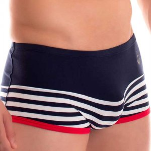 Lips & Cherry Blayne Stripe Boxer Brief Underwear Blue