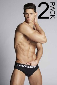 Dsquared2 [2 Pack] Logo Brief Underwear Black DCX670030200