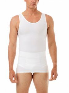 Underworks Shapewear MagiCotton Compression Tank Top T Shirt White 982100
