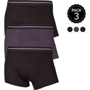 Marginal [3 Pack] Boxer Brief Underwear Black & Grey T013-3