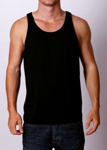 By The People Premium Basic Tank Top T Shirt Black