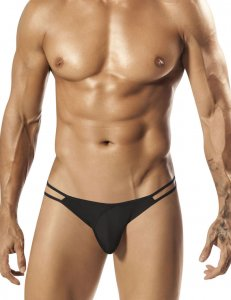 PPU Crave Strappy Thong Underwear Black 1552