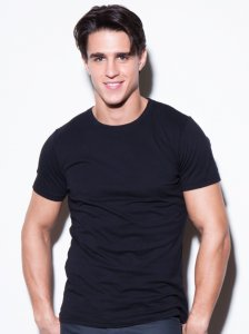 N2N Bodywear Basic Short Sleeved T Shirt Black BC2