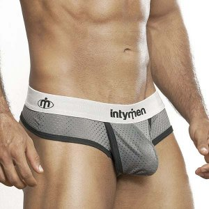 Intymen Fill It Mesh Thong Underwear Grey 7604