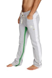 4-rth Ultra Flex Yoga Track Pants Grey/White/Green